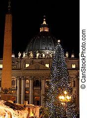 Saint Peter Basilica in Christmas time