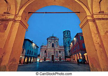 San Prospero church, Reggio Emilia - night view of San...