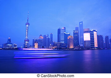 night view of shanghai