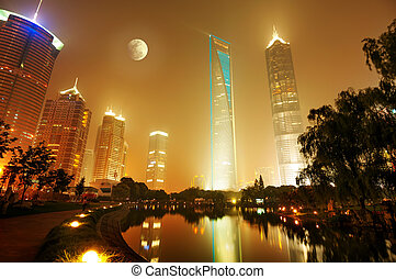 Night view of shanghai - The night view of the lujiazui ...