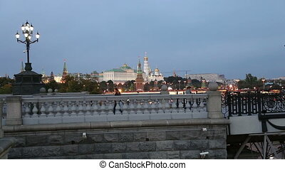 night view of the Kremlin, Moscow