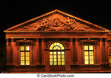 Night view of The Louvre Palace
