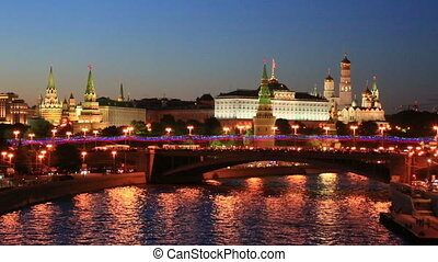 Moscow Kremlin - Night view of the Moscow Kremlin