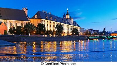 Night view of the Old Town of Wroclaw, Poland - Scenic...