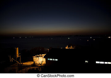 Night view of the sea