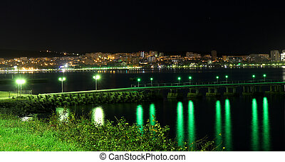 night view of the sea town, Gelendzhik, Russia