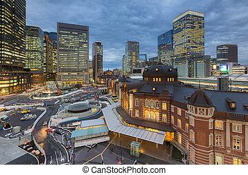 Night view of Tokyo Station Tokyo