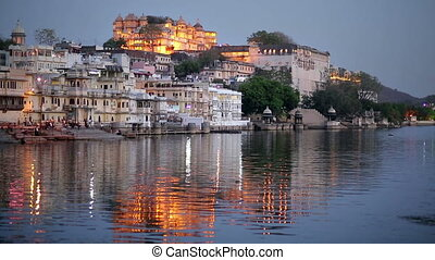 Night View of Udaipur, Rajasthan - Magnificent view of...