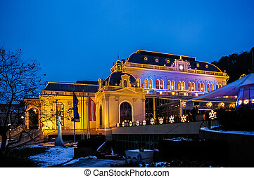Night view on casino in Baden bei Wien - Night view on...