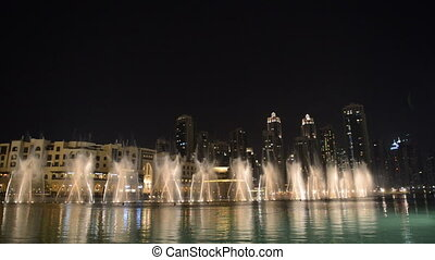 Night view on Dancing fountains