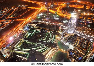 Night view on Down town of Dubai city