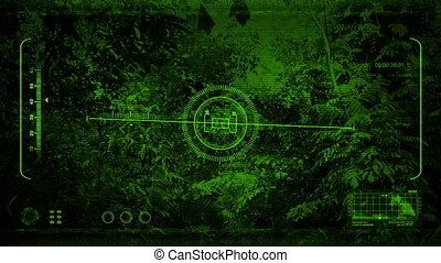 Night Vision Moving Through The Jungle - Night Vision point...