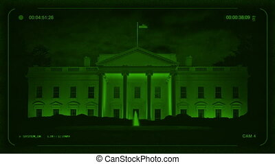 Night Vision View Of The White House