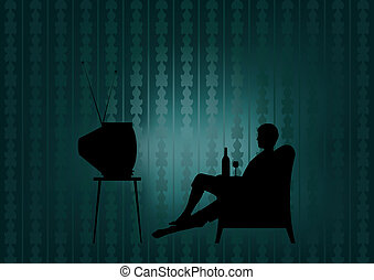 Night watching TV