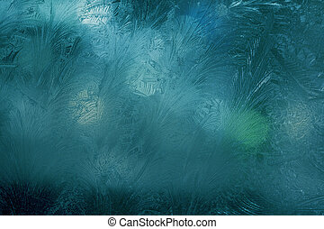Night window frosting - Image of the night window frosting