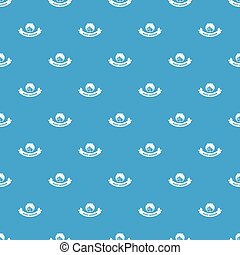 Night window pattern vector seamless blue
