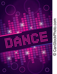 Nightclub Dance Background Design - A danced themed design...