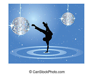 Nightclub dancers - Nightclub dancer theme. Vector...