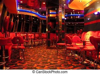 The nightclub on a cruiseship...