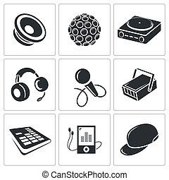 Nightclub vector icon collection