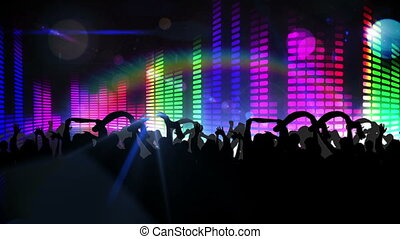 Nightclub with light show - Digital animation of Nightclub...