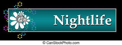 Nightlife Black Colorful Neon