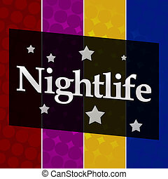 Nightlife Colorful Halftone