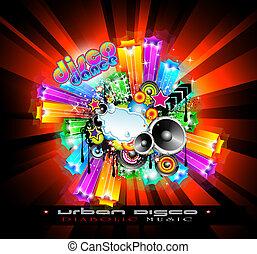 NightLife Disco Event Background