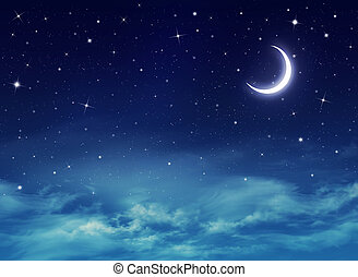 nightly, 天空, 由于, 星