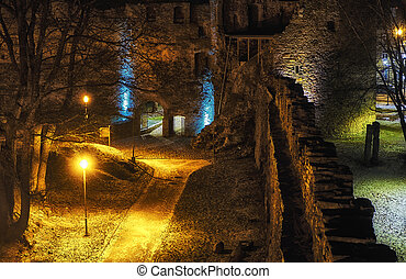 nightly castle gate