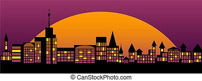 Nightly city.