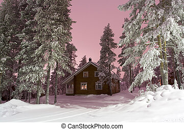 nightly, lappland, hus