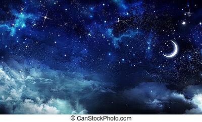 nightly, niebo