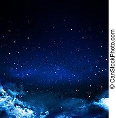 Nightly sky - beautiful background, nightly sky