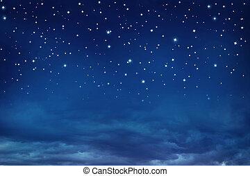Nightly sky with stars - Stars in the night sky