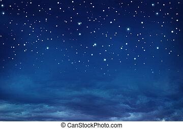 Nightly sky with stars - Stars in the night sky