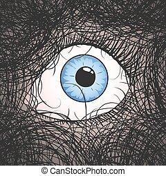 nightmare eye draw fear