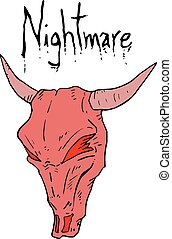 nightmare monster mask - Creative design of nightmare...