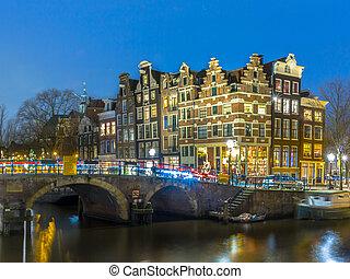 Nightscape grachtengordel Amsterdam