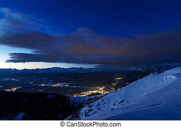 nightscape, valle