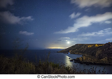 Nightsky over Fomm ir-Rih Bay - A beautiful star-filled...