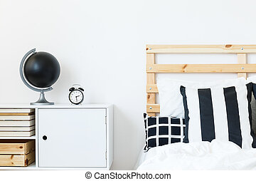 Nightstand by the bed