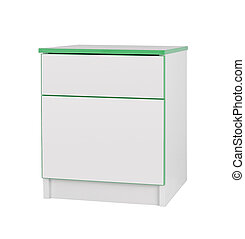 Nightstand isolated on white background