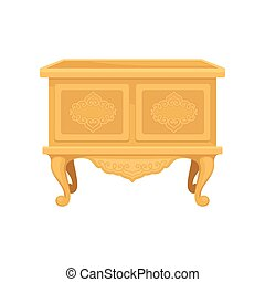 Nightstand on white background. Vector flat illustration.