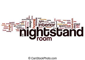 Nightstand, palabra, nube