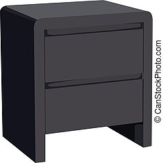 Nightstand realistic vector illustration isolated