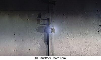 Nighttime burglary - Burglar breaks padlock on the gate of...