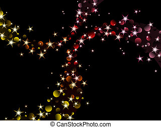 nighttime sparkles, warm colors - background with glittering...