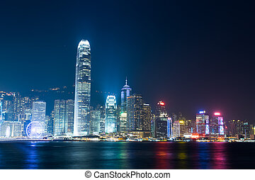 Nightview of Victoria Harbour