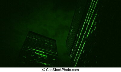 Nightvision Large Office Buildings At Night - Night-vision...